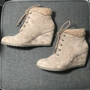 Madden Girl Suede Ankle Heel Boots